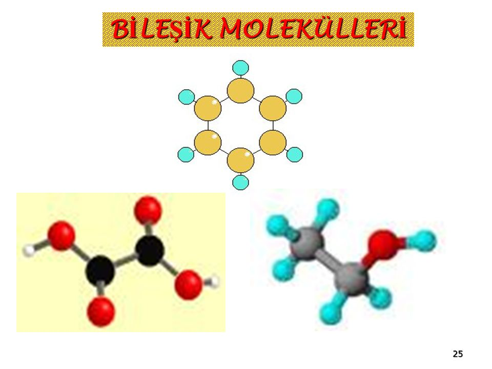 BİLEŞİK MOLEKÜLLERİ www.fendersi.gen.tr 25