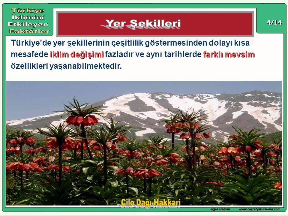 Türkiye İklimini Etkileyen Faktörler Yer Şekilleri