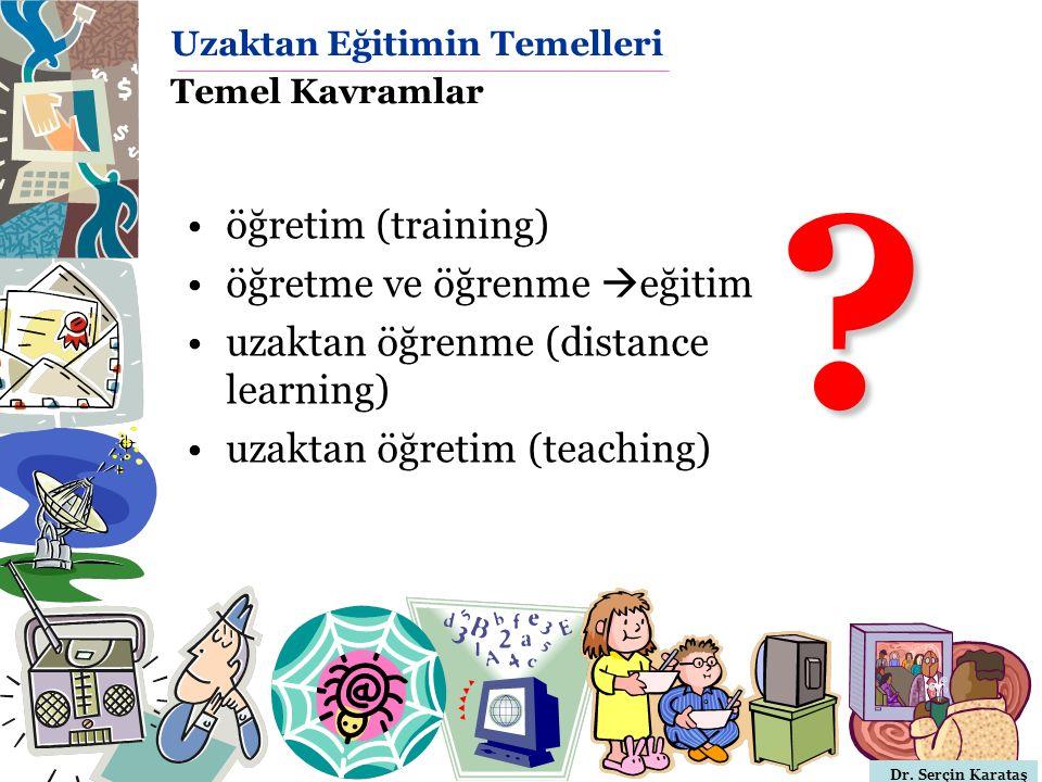 Uzaktan Eğitimin Temelleri Temel Kavramlar