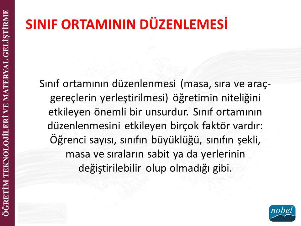 SINIF ORTAMININ DÜZENLEMESİ
