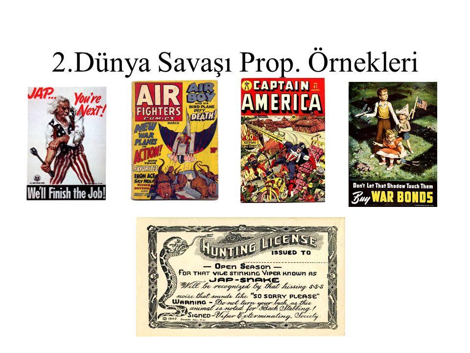 2.Dünya Savaşı Prop. Örnekleri