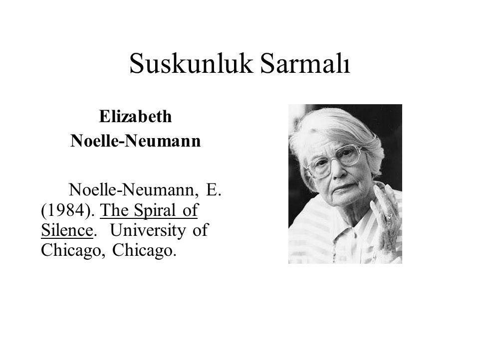 Suskunluk Sarmalı Elizabeth Noelle-Neumann
