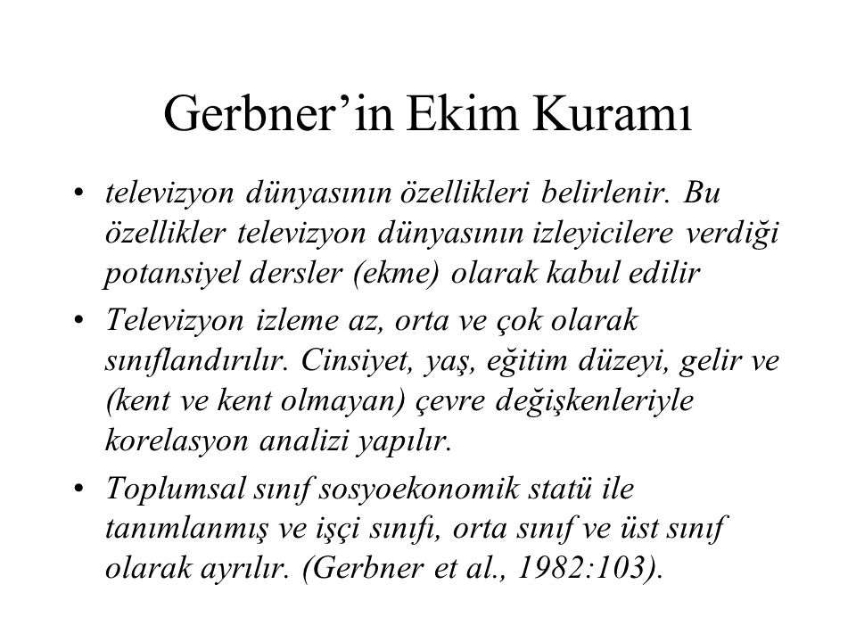 Gerbner'in Ekim Kuramı
