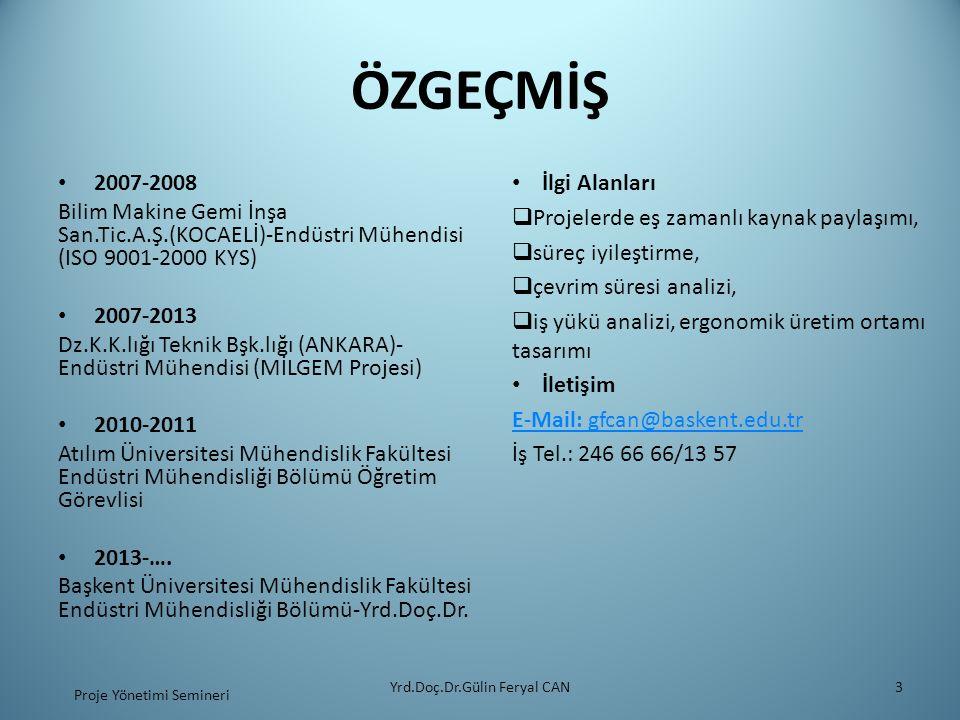 ÖZGEÇMİŞ İlgi Alanları 2007-2008