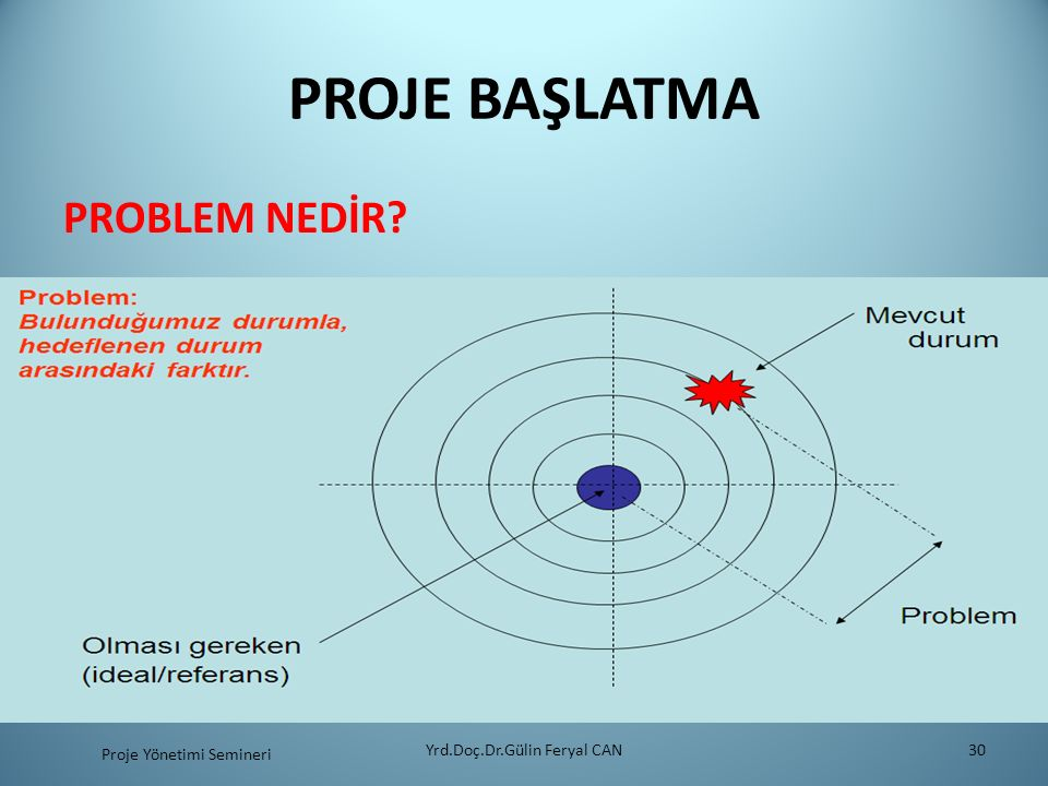 PROJE BAŞLATMA PROBLEM NEDİR Yrd.Doç.Dr.Gülin Feryal CAN