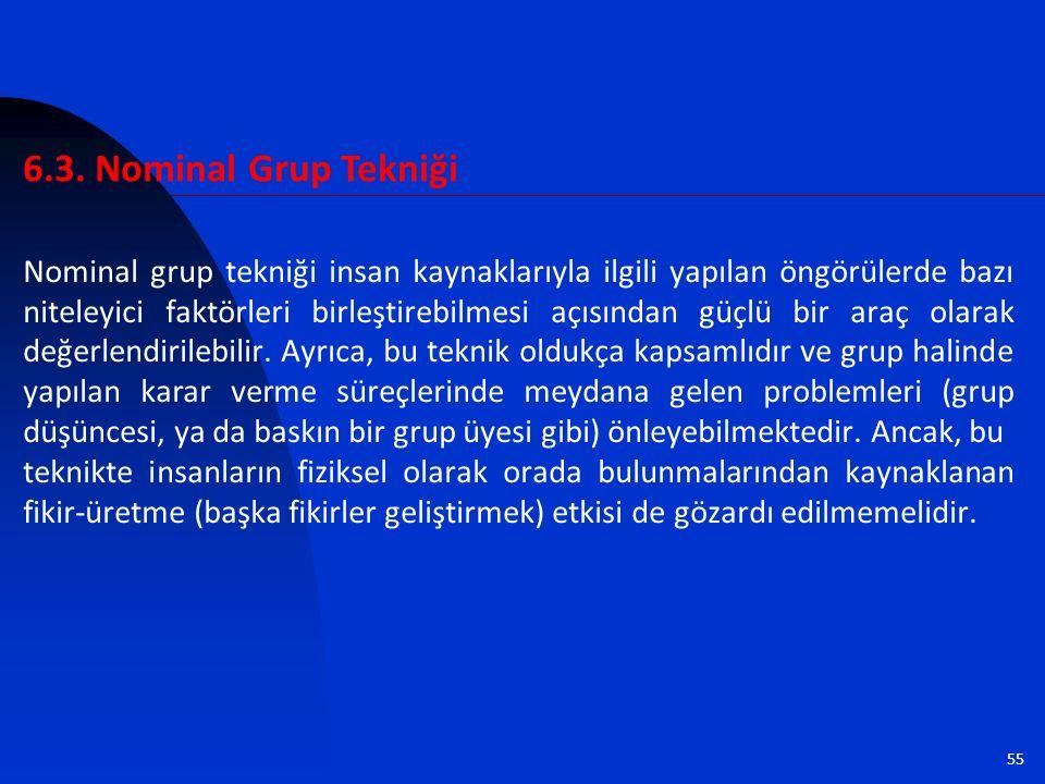 6.3. Nominal Grup Tekniği