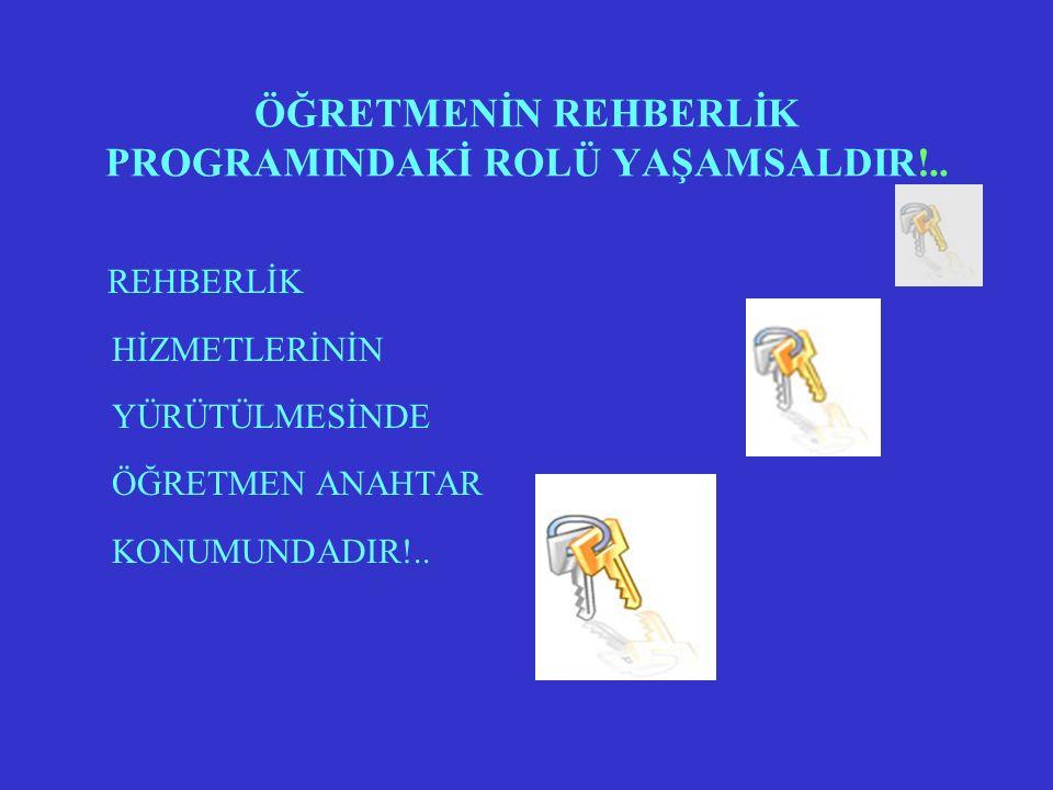 ÖĞRETMENİN REHBERLİK PROGRAMINDAKİ ROLÜ YAŞAMSALDIR!..