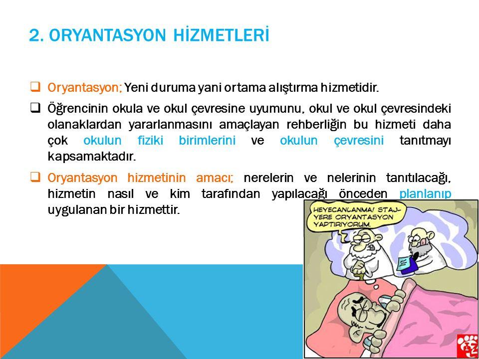 2. ORYANTASYON HİZMETLERİ