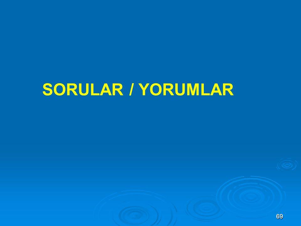 SORULAR / YORUMLAR