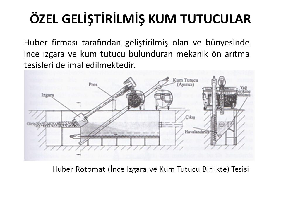 Huber Rotomat (İnce Izgara ve Kum Tutucu Birlikte) Tesisi