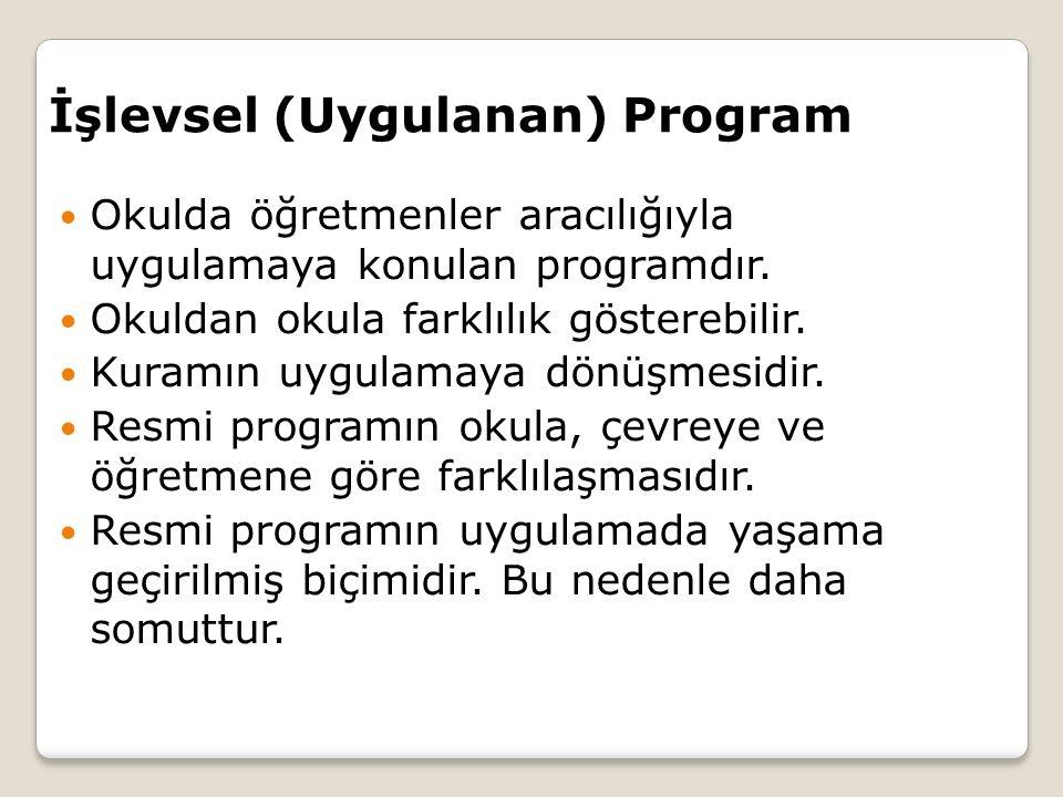 İşlevsel (Uygulanan) Program