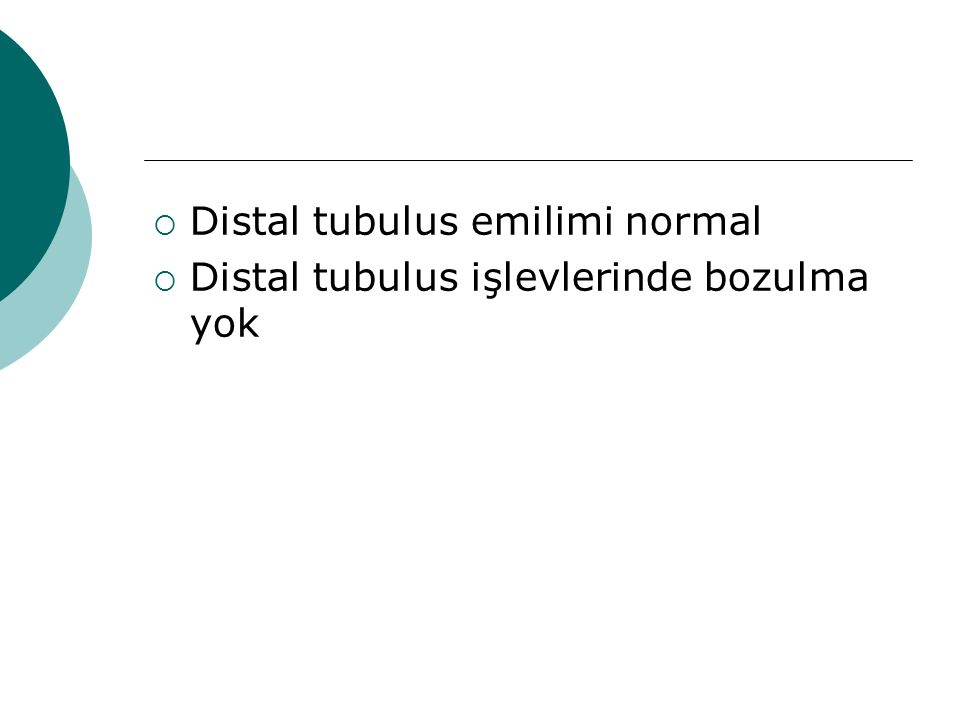 Distal tubulus emilimi normal