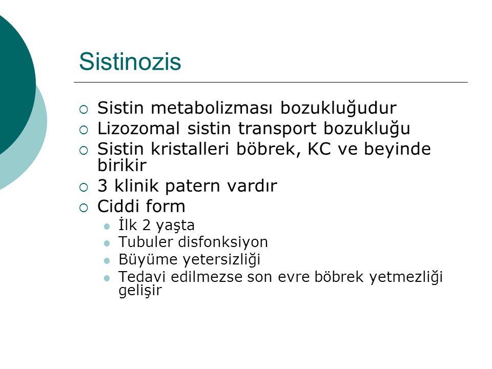 Sistinozis Sistin metabolizması bozukluğudur