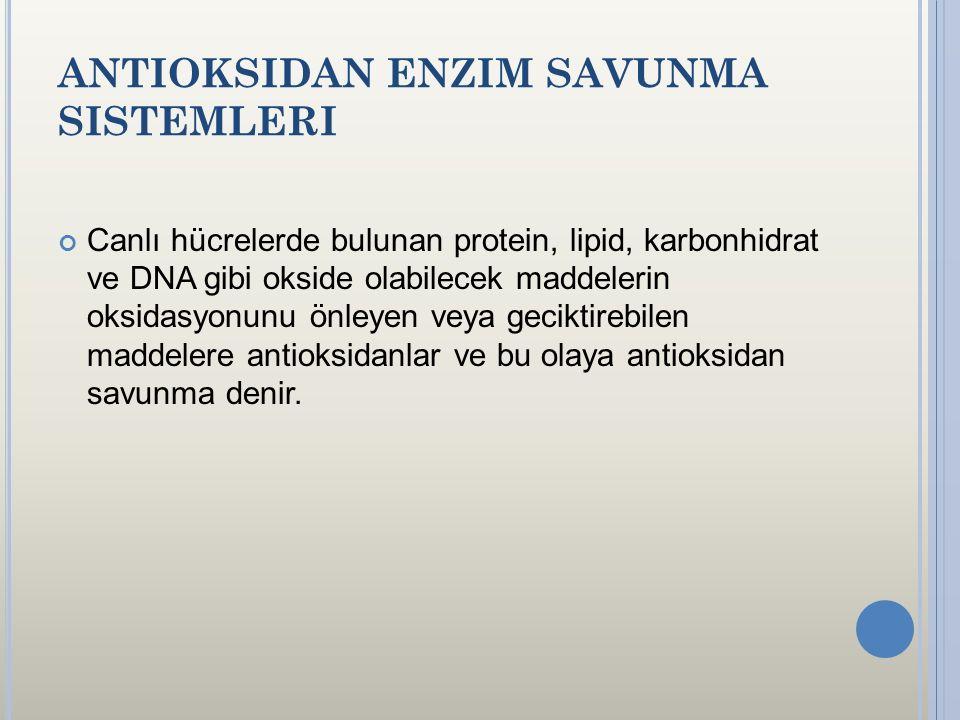 Antioksidan Enzim Savunma Sistemleri