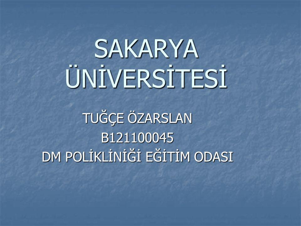 TUĞÇE ÖZARSLAN B121100045 DM POLİKLİNİĞİ EĞİTİM ODASI
