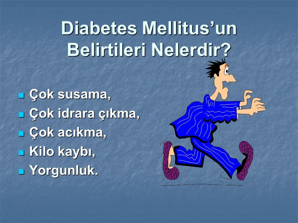 Diabetes Mellitus'un Belirtileri Nelerdir