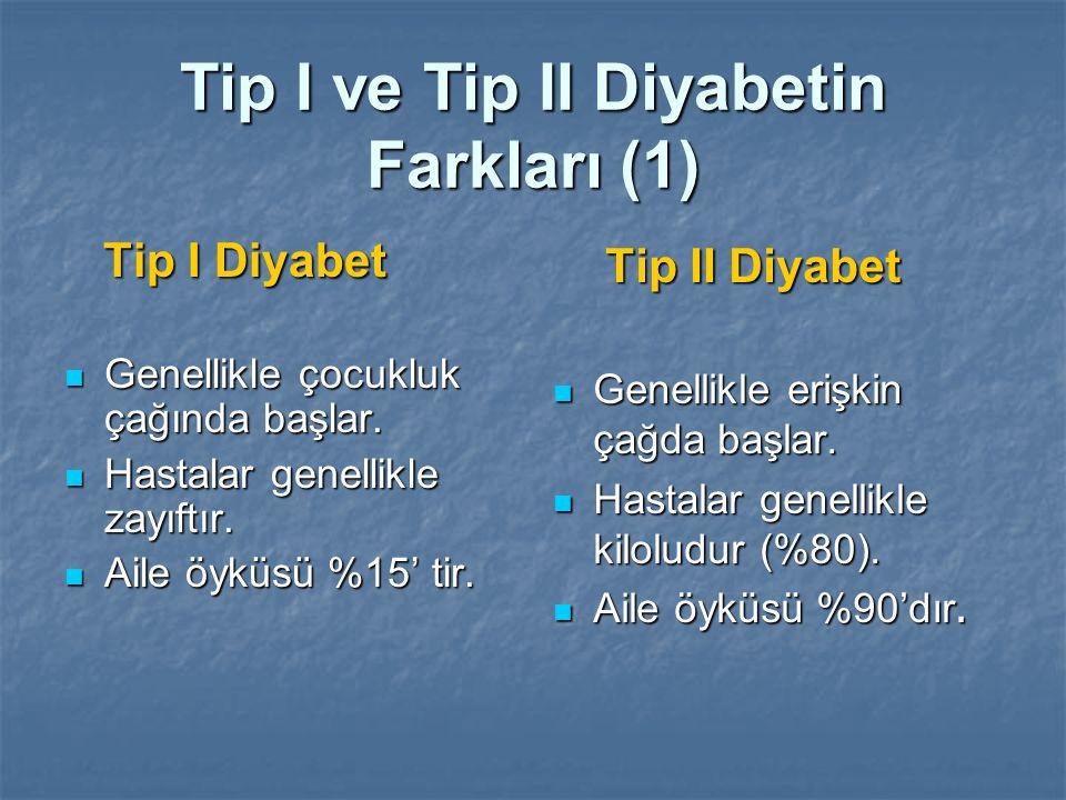 Tip I ve Tip II Diyabetin Farkları (1)