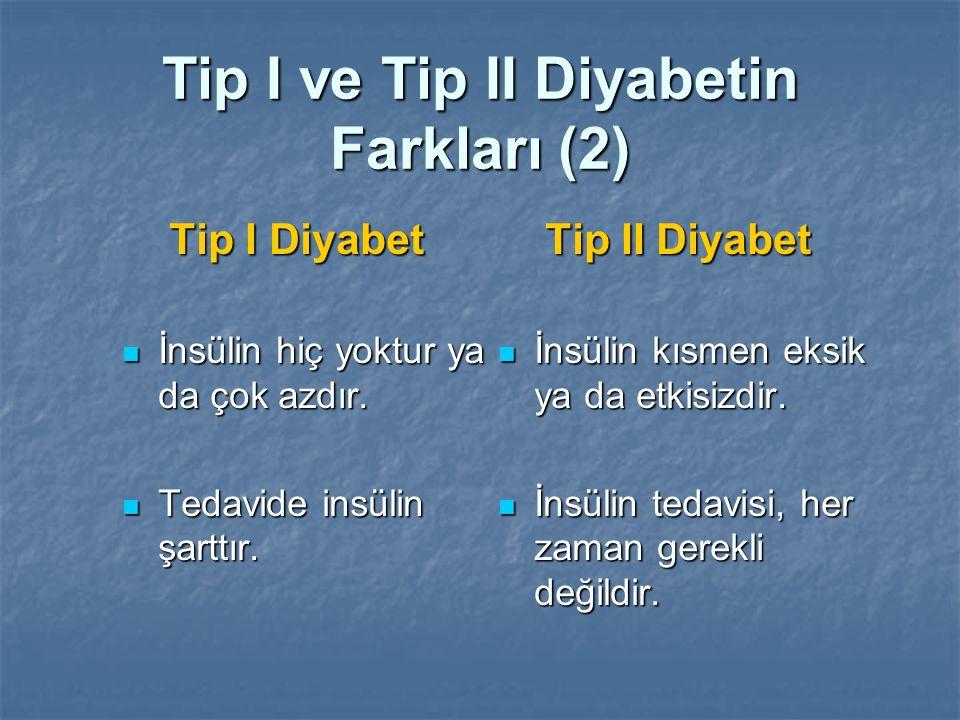 Tip I ve Tip II Diyabetin Farkları (2)