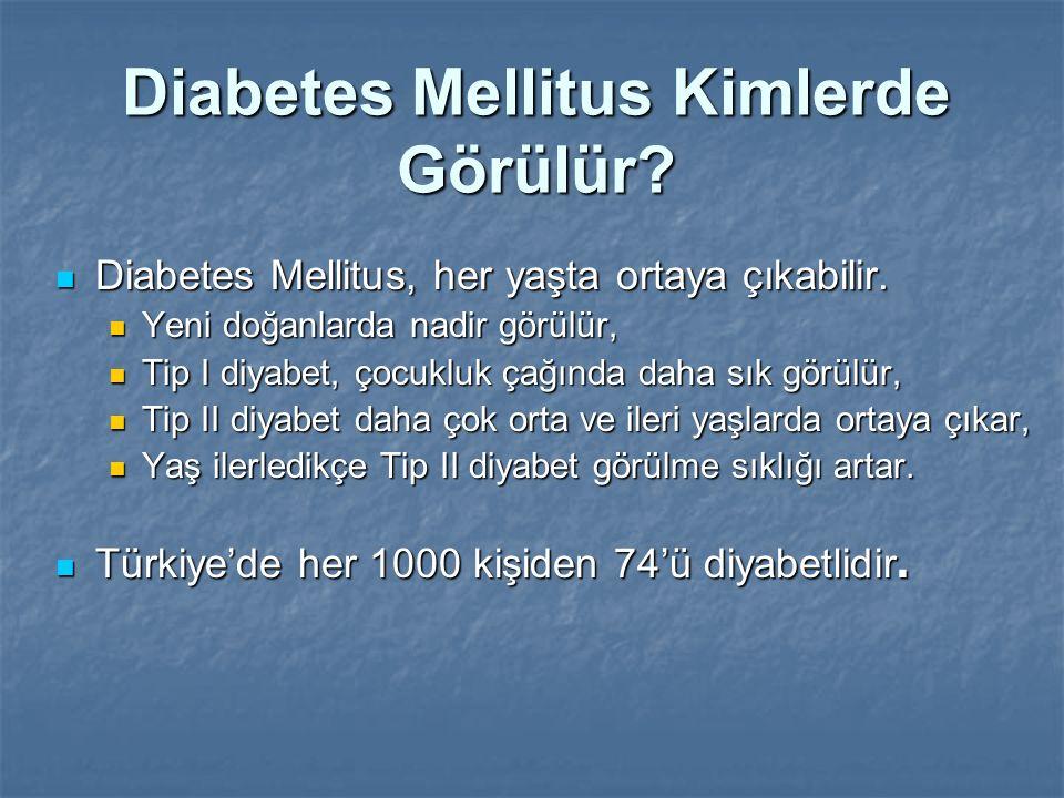Diabetes Mellitus Kimlerde Görülür