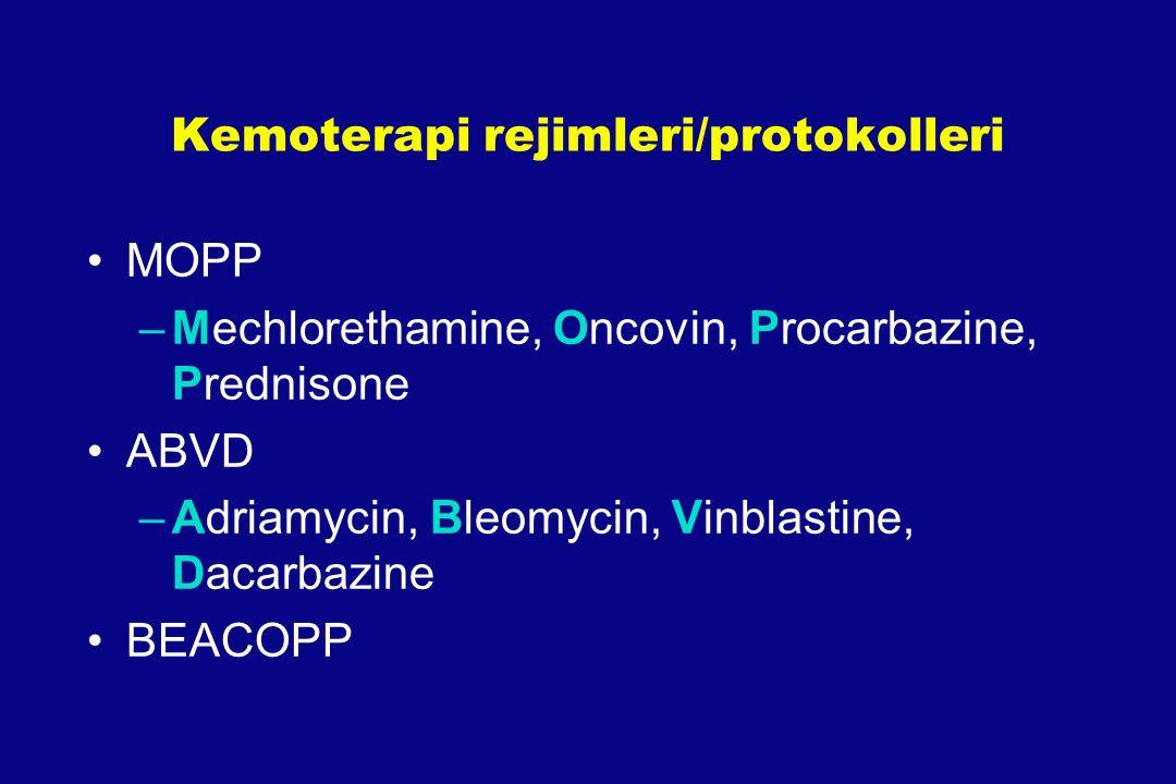 Kemoterapi rejimleri/protokolleri