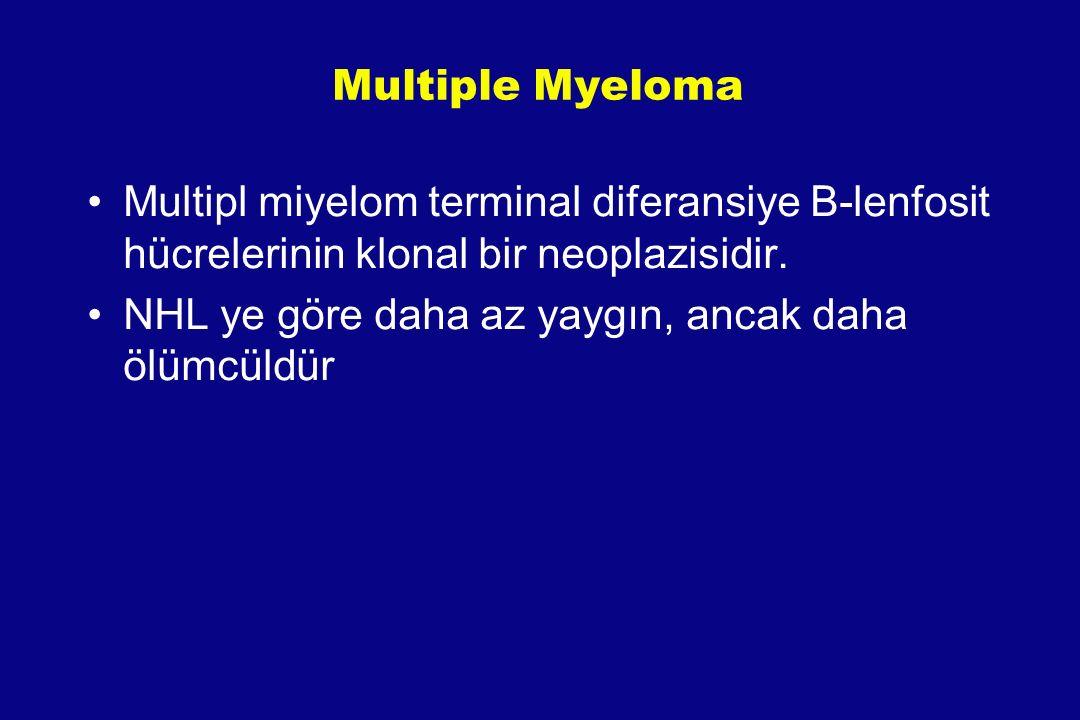 Multiple Myeloma Multipl miyelom terminal diferansiye B-lenfosit hücrelerinin klonal bir neoplazisidir.
