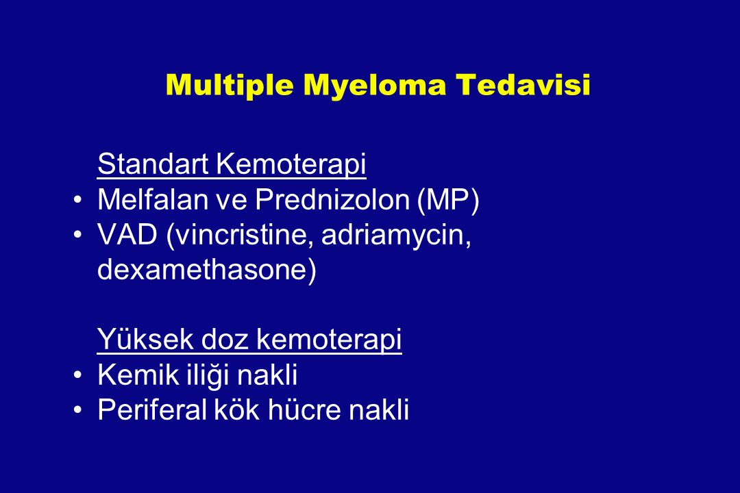 Multiple Myeloma Tedavisi