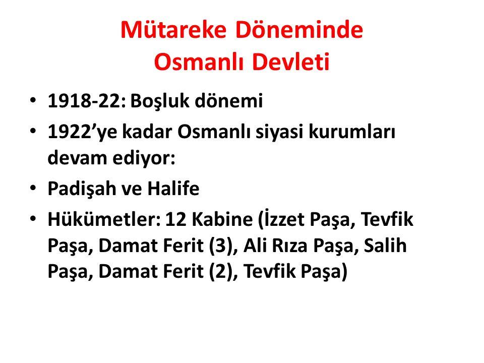 Mütareke Döneminde Osmanlı Devleti