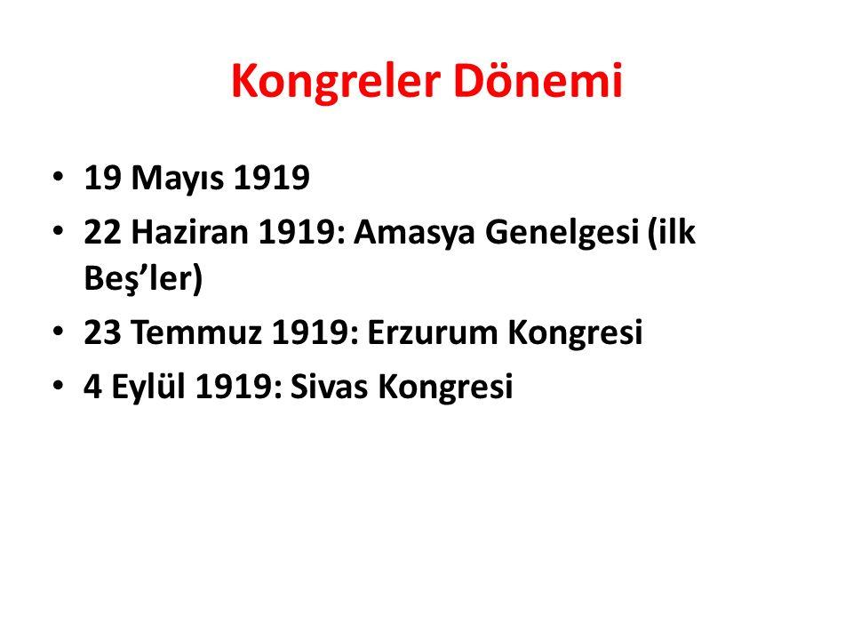 Kongreler Dönemi 19 Mayıs 1919