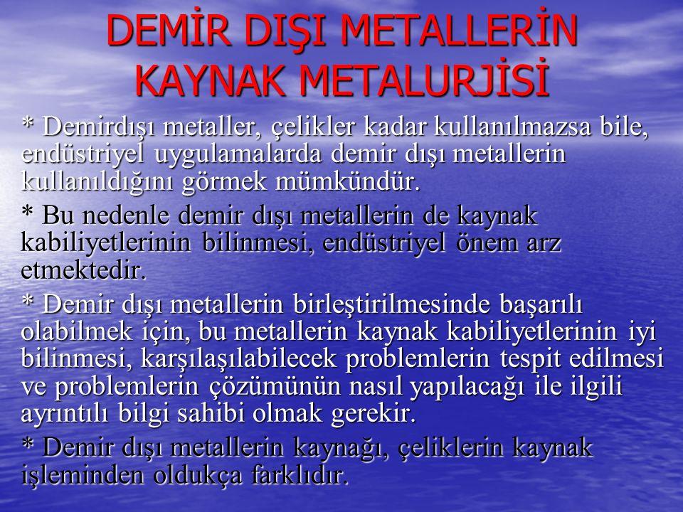 DEMİR DIŞI METALLERİN KAYNAK METALURJİSİ