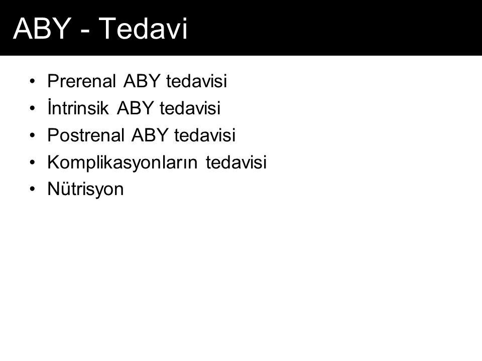 ABY - Tedavi Prerenal ABY tedavisi İntrinsik ABY tedavisi