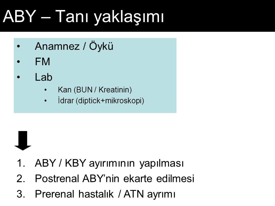 ABY – Tanı yaklaşımı Anamnez / Öykü FM Lab