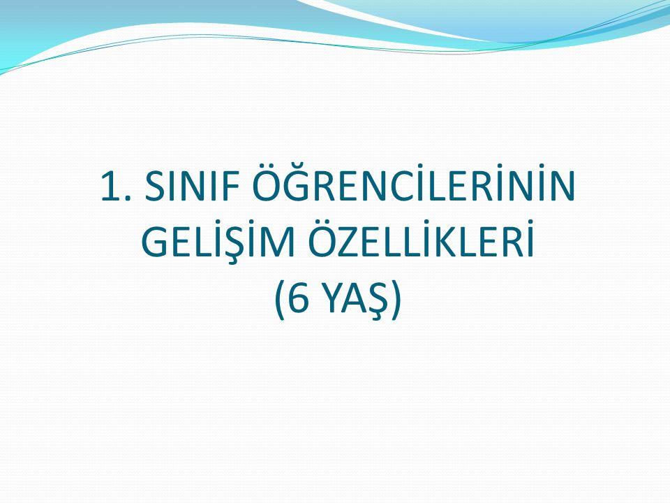 1. SINIF ÖĞRENCİLERİNİN GELİŞİM ÖZELLİKLERİ (6 YAŞ)