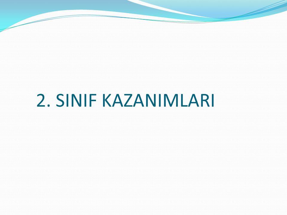 2. SINIF KAZANIMLARI
