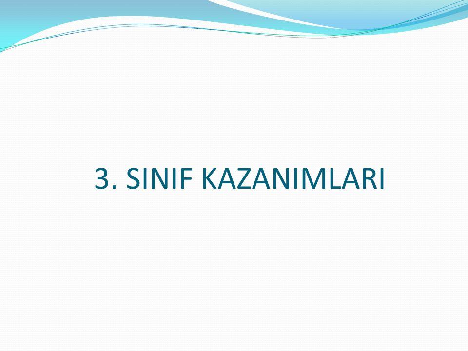 3. SINIF KAZANIMLARI