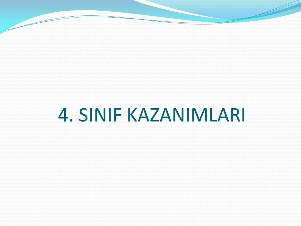4. SINIF KAZANIMLARI