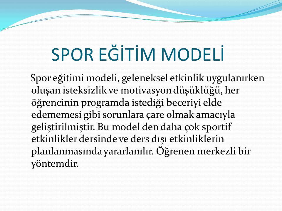SPOR EĞİTİM MODELİ