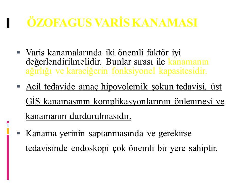 ÖZOFAGUS VARİS KANAMASI