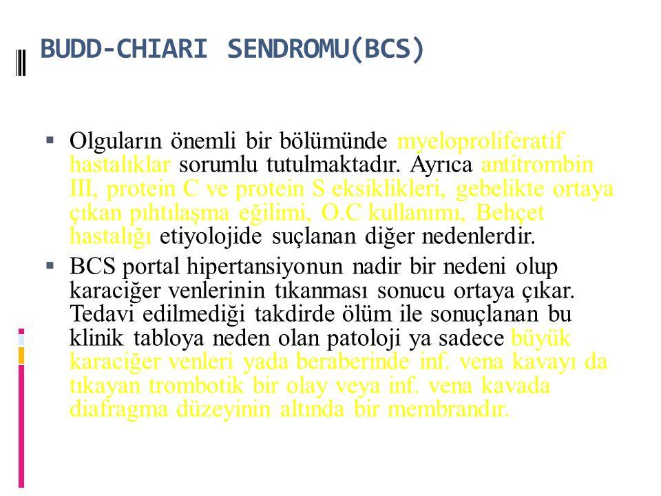 BUDD-CHIARI SENDROMU(BCS)