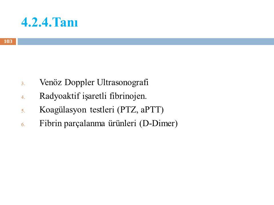 4.2.4.Tanı Venöz Doppler Ultrasonografi