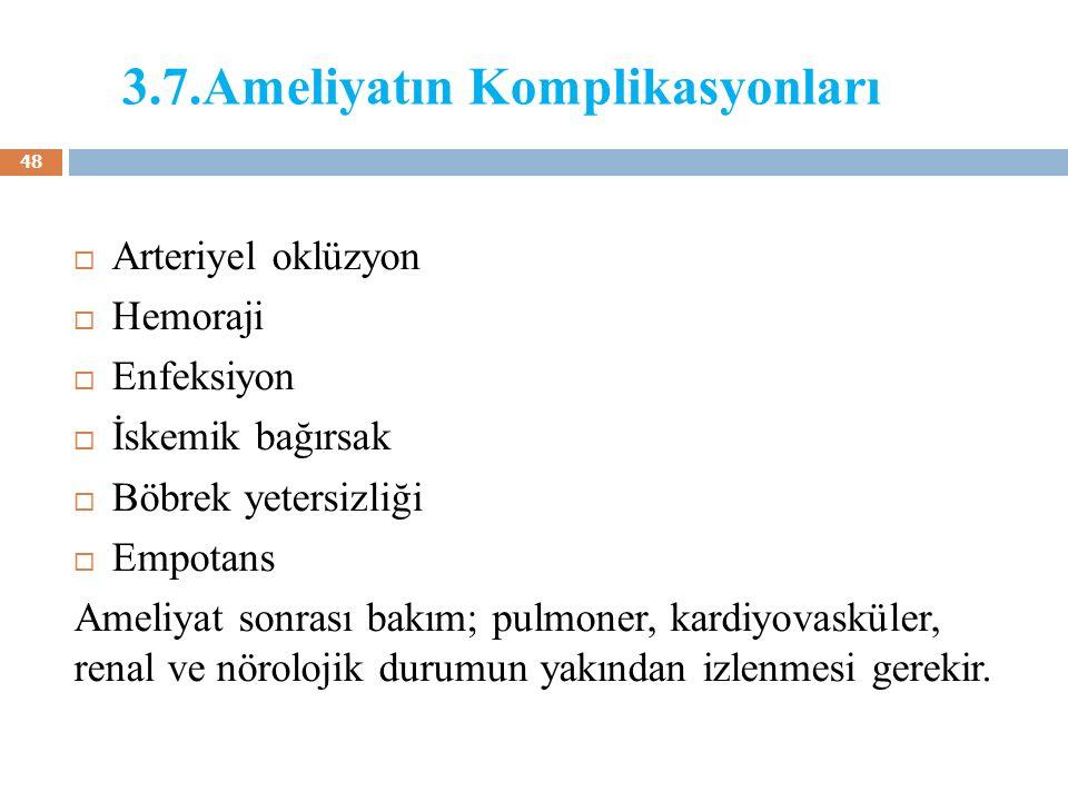 3.7.Ameliyatın Komplikasyonları