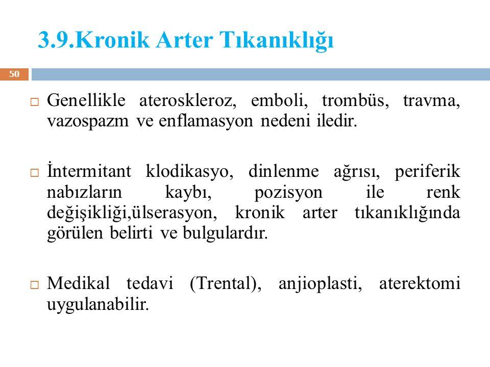 3.9.Kronik Arter Tıkanıklığı
