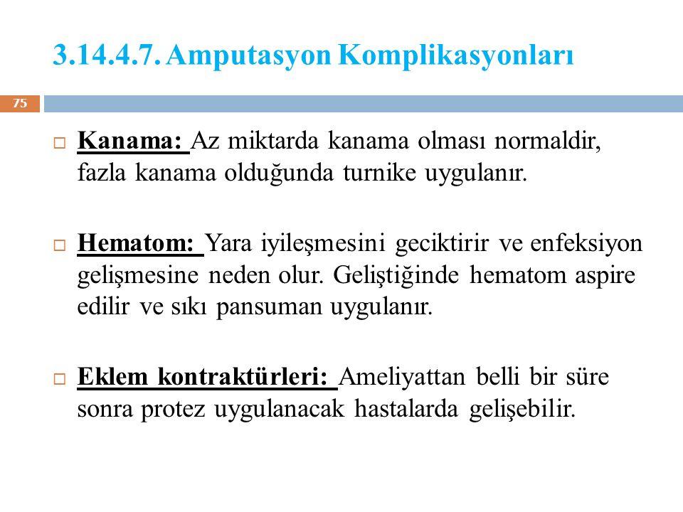 3.14.4.7. Amputasyon Komplikasyonları