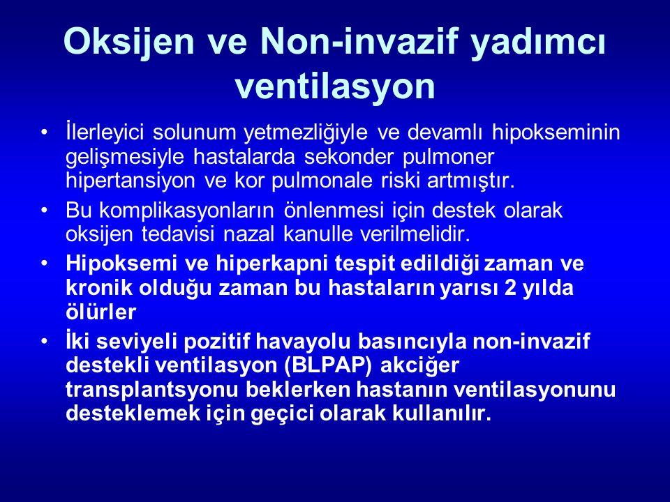 Oksijen ve Non-invazif yadımcı ventilasyon