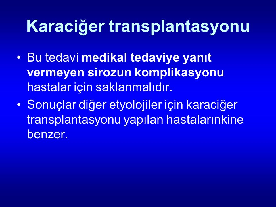 Karaciğer transplantasyonu