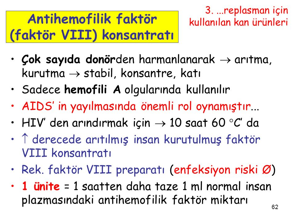 Antihemofilik faktör (faktör VIII) konsantratı