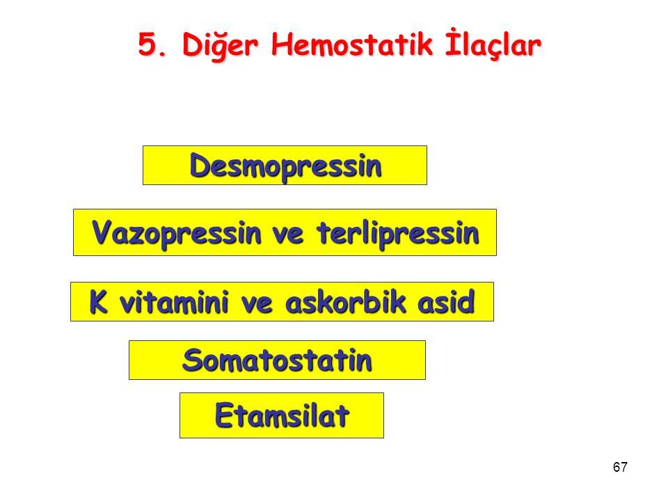 5. Diğer Hemostatik İlaçlar