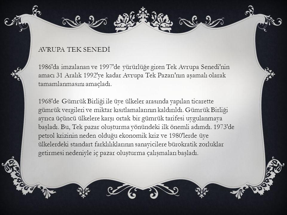 AVRUPA TEK SENEDİ