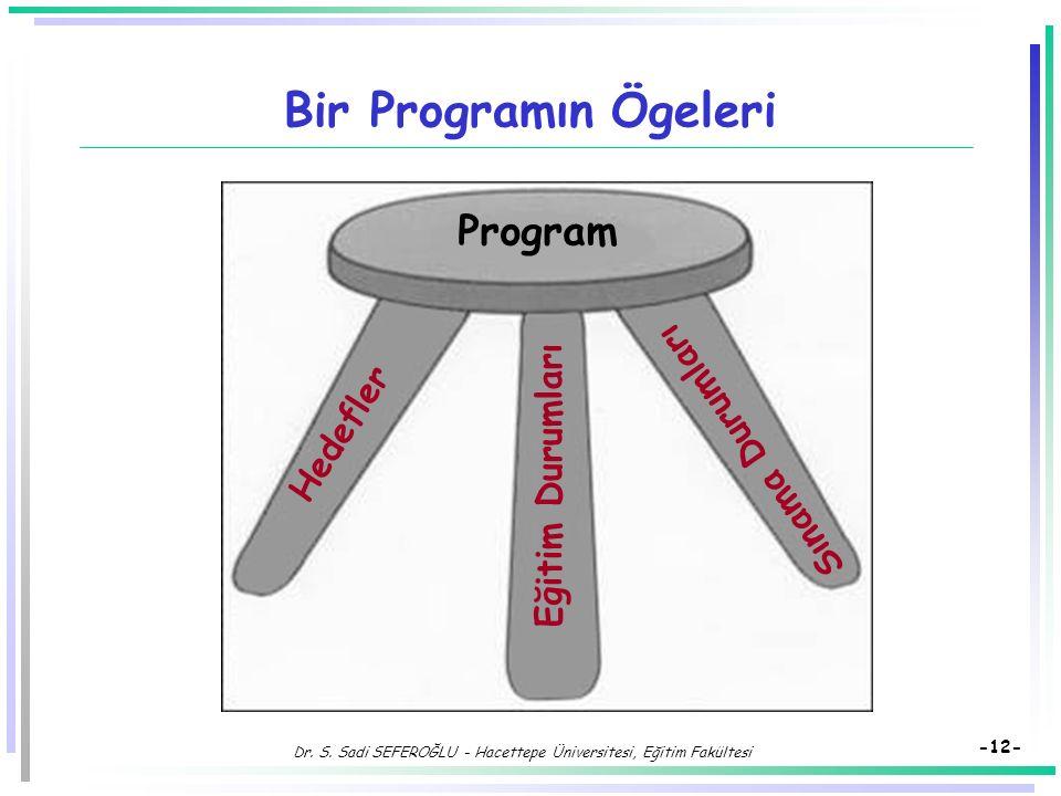 Dr. S. Sadi SEFEROĞLU - Hacettepe Üniversitesi, Eğitim Fakültesi