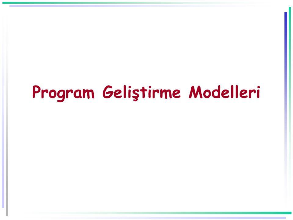 Program Geliştirme Modelleri