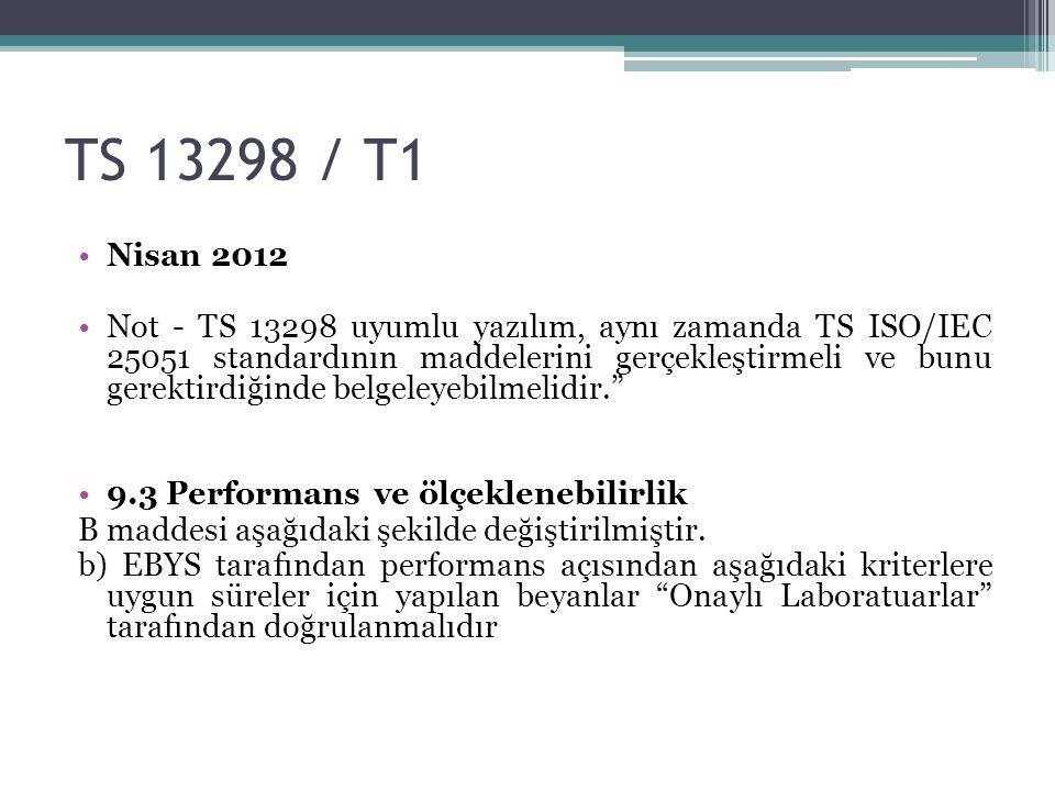 TS 13298 / T1 Nisan 2012.